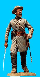 C30 - Officer advancing - Sword drawn. 54mm Confederate infantry (unpainted kit) - EN STOCK