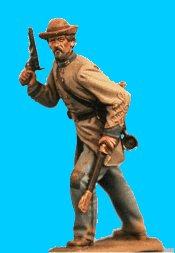 C36 - Officer defending - Revolver drawn. 54mm Confederate infantry (unpainted kit) - EN STOCK