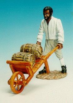 CC20 - Black slave with wheel barrow