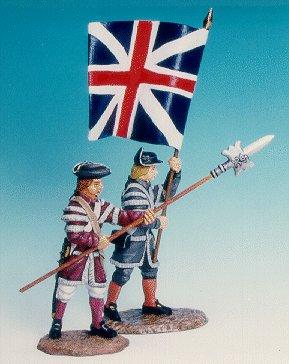 CC27 - Militiamen with flag and N.C.O.