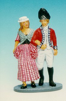 CC02 - Redcoat with woman, walking
