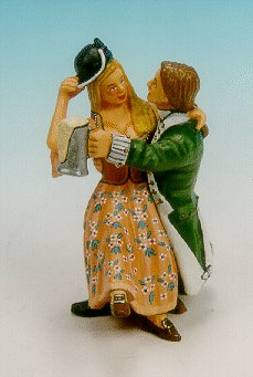 CC42 - U.S. Marine carousing with wench on his lap