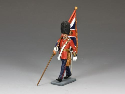 CE005 - British Marching Officer with King's Colour