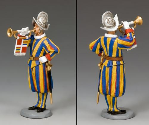 CE020 - Swiss Guardsman Musician with Trumpeter