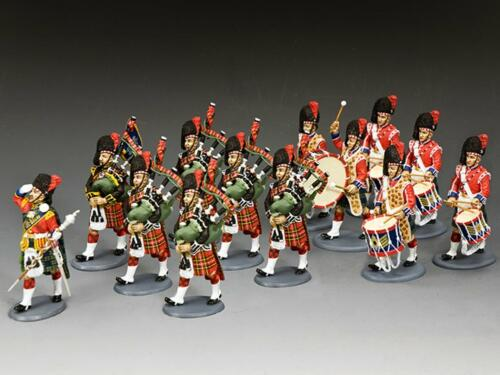 CE028 - The Black Watch Pipes drums (13 figurines)