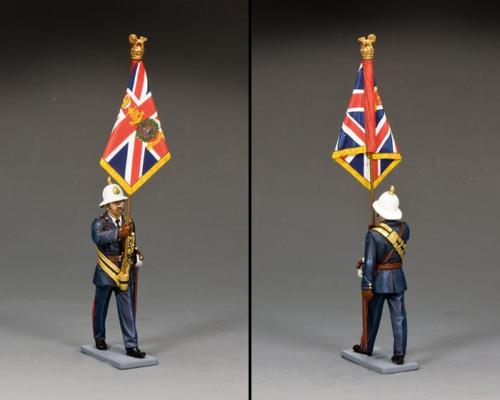 CE042 - Royal Marines Officer with Queen's Colour