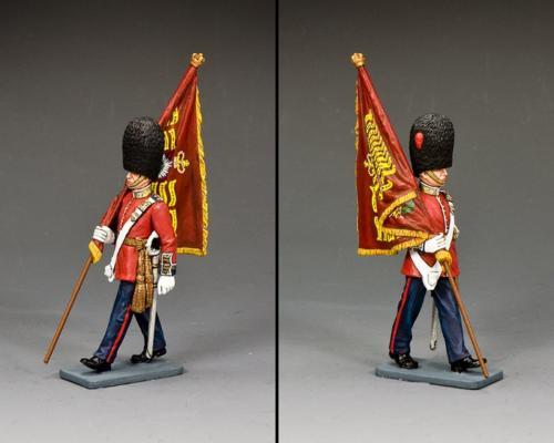 CE056 - Goldstream Guards Officer with Regimental Flag