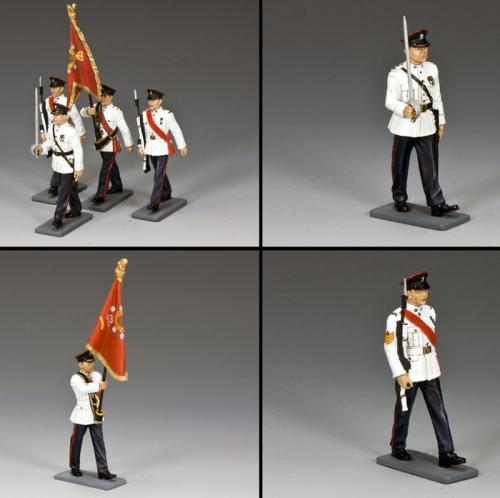 CHK-S01 - The Royal Hong Kong Regiment On Parade, The Guidon Party