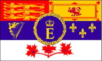 Canadian Royal Flag - The Royal Standard, aussi appelé The Queen s Personal Canadian Flag, est une bannière héraldique adoptée par la Reine Elizabeth II en 1962