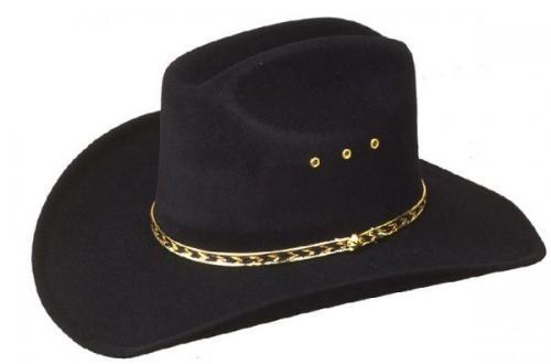 Chapeau cowboy - BFF-26BLK - Black Faux Felt Cowboy Hat - Made in Mexico - disponible en 2 tailles S-M et L-XL - EN STOCK