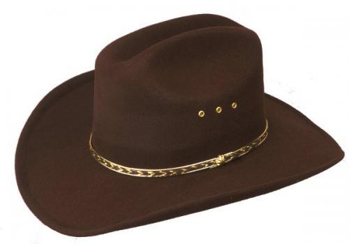 Chapeau cowboy - BFF-26BR - Brown Faux Felt Cowboy Hat - Made in Mexico - disponible en 2 tailles S-M et L-XL - EN STOCK