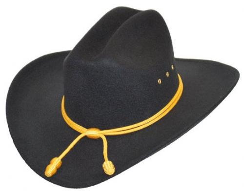 Chapeau cowboy - BFF38BLK - Black Cattleman faux Felt with Cavalry band - momentanément hors stock