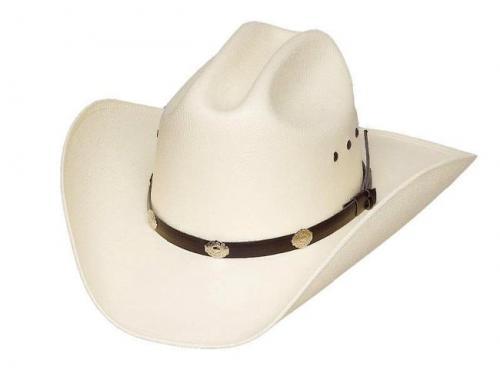 Chapeau cowboy - CA-4E - Cattle Straw Hat Siver Conchos with Elastic Band - disponible en 2 tailles S-M et  L-XL - EN STOCK