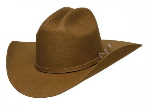 Chapeau cowboy - HA-18BR - BROWN Wool Felt Hat - Made in USA - disponible en 2 tailles 57 et 58 - EN STOCK