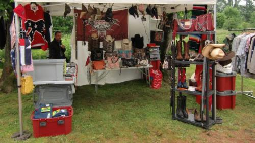 Chièvres 2016 - American Market - Stand Western Boots and Hats