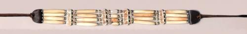 Collier de cou ou ruban pour chapeau - CN-16 - Genuine Bone Choker Necklace or Hatband - EN STOCK
