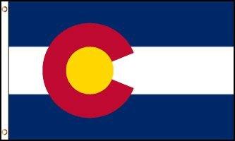 Colorado Flag - Drapeau de l'état américain du COLORADO - EN STOCK