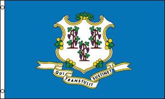 Connecticut Flag - Drapeau de l'état américain du CONNECTICUT - EN STOCK