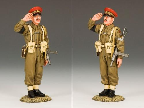 DD155 - Saluting British Military Policeman