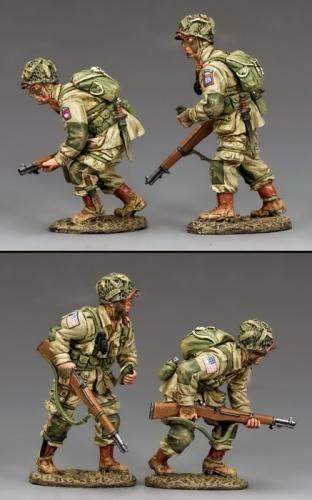 DD288-1 - US Paratroopers Moving Forward ... Cautiously (82nd Airborne)