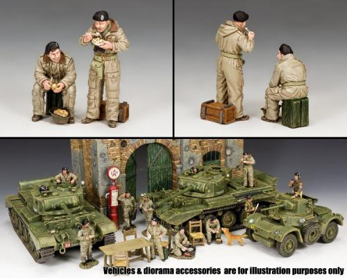 DD301 - British Dismounted AFV (Armoured Fighting Vehicle) Crew Set 1