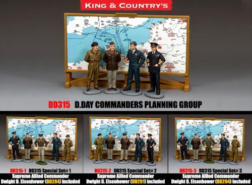 DD315 - D.DAY Commanders Planning Group (Montgomery, Bradley, Arthur Tedder, Bertran Ramsey)