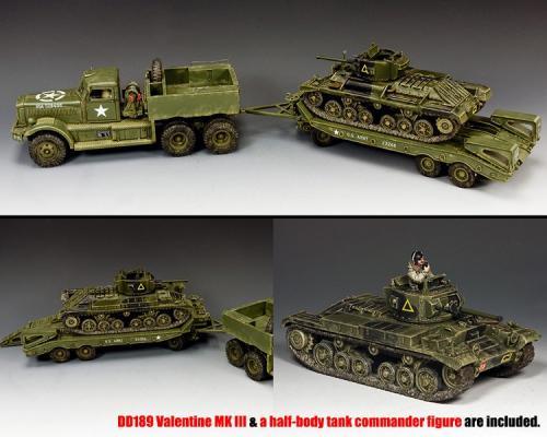 DD318-S02 - DD318 - Diamond T with DD189 The Valentine MKIII tank