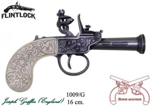 DENIX - Armes anciennes - 1009G - Flintlock pistol, made by Griffin, England 1798 - disponible sur commande