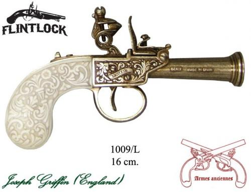 DENIX - Armes anciennes - 1009L - Flintlock pistol, made by Griffin, England 1798 - disponible sur commande