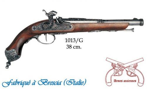 DENIX - Armes anciennes - 1013G - Percussion pistol, Brescia (Italia) 1825 - disponible sur commande