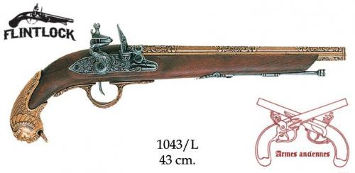 DENIX - Armes anciennes - 1043L - Flintlock pistol, Germany 18th. C. - disponible sur commande