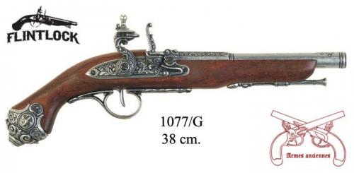 DENIX - Armes anciennes - 1077G - Flintlock pistol, 18th. Century - EN STOCK