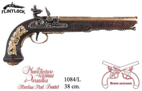 DENIX - Armes anciennes - 1084L - Flintlock dueling pistol manufactured by the craftsman master of Versailles, Boutet in 1810 - disponible sur commande