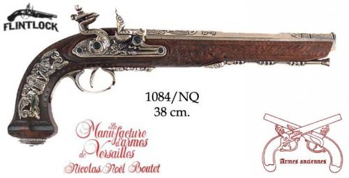 DENIX - Armes anciennes - 1084NQ - Flintlock dueling pistol manufactured by the craftsman master of Versailles, Boutet in 1810 - disponible sur commande