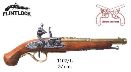 DENIX - Armes anciennes - 1102L - Flintlock pistol, 18th. C. - disponible sur commande
