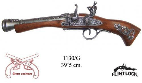 DENIX - Armes anciennes - 1130G - Flintlock blunderbuss, 18th. C. (left-handed - arme pour gaucher)