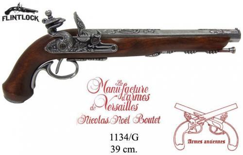 DENIX - Armes anciennes - 1134G - Flintlock dueling pistol, Versailles (France) - disponible sur commande