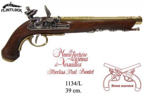DENIX - Armes anciennes - 1134L - Flintlock dueling pistol, Versailles (France) 1910 - disponible sur commande
