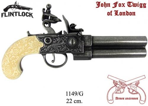 DENIX - Armes anciennes - 1149G - Flintlock pistol manufactured by Twigg, United Kingdom 18th. C - disponible sur commande