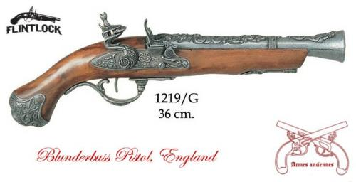 DENIX - Armes anciennes - 1219G - Flintlock pistol, England 18th. C. - disponible sur commande