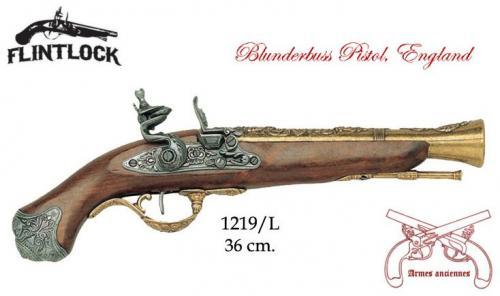 DENIX - Armes anciennes - 1219L - Flintlock pistol, England 18th. C. - disponible sur commande