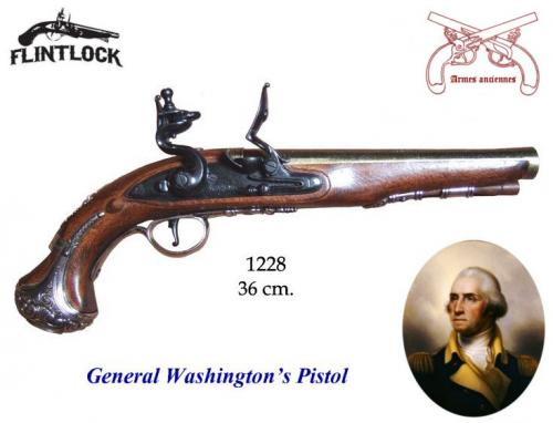 DENIX - Armes anciennes - 1228 - General Washington s pistol, England 18th. C. - disponible sur commande
