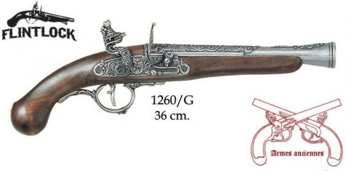 DENIX - Armes anciennes - 1260G - Flintlock pistol, Germany 18th C. - disponible sur commande
