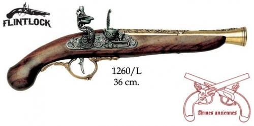 DENIX - Armes anciennes - 1260L - Flintlock pistol, Germany 18th C. - disponible sur commande