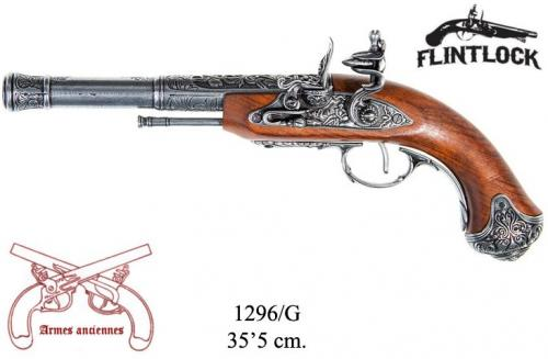 DENIX - Armes anciennes - 1296G - Flintlock pistol, India 18th. C. (left-handed) - disponible sur commande