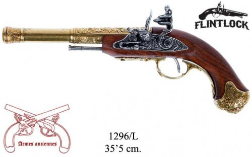 DENIX - Armes anciennes - 1296L - Flintlock pistol, India 18th. C. (left-handed) - disponible sur commande