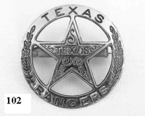 DENIX - Badge - 102 -Texas rangers circle star cut-out badge - EN STOCK