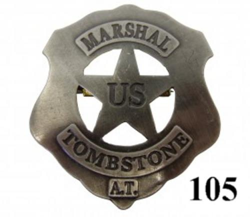 DENIX - Badge - 105 - US Marshal Tombstone badge - EN STOCK