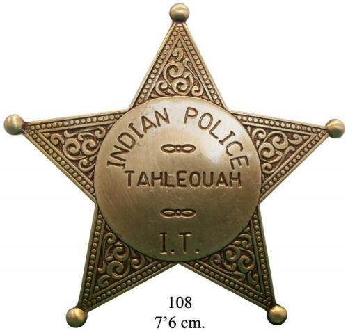 DENIX - Badge - 108 - Indian policeTahleouah badge - EN STOCK