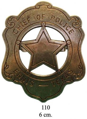 DENIX - Badge - 110 - Chief of Police badge - EN STOCK